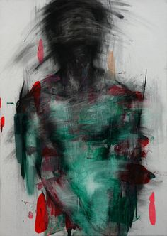 """Saatchi Online Artist: KwangHo Shin; Oil, Painting """"[30] untitled charcoal on canvas 91 x 65 cm 2013"""""""