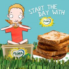 A great way to start your day! www.flora.com for recipe ideas and www.facebook.com/flora for daily hints and tips, plus fun and games Start The Day, Recipe Ideas, Flora, Facebook, Games, Breakfast, Tips, Fun, Recipes