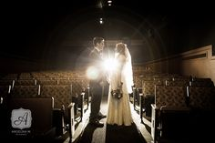 Colleen & Jake's Retro-Inspired Movie Theater Wedding | Angelina M. Photography