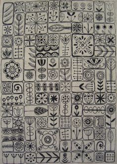 'scandi' fabric, by summersville #doodle