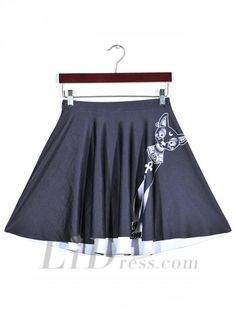Womens Boutique Digital Printing Pleated Skirt Skt1137