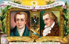 Johann Wolfgang von Goethe and Johann Christoph Friedrich von Schiller by Anonymous