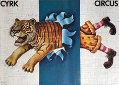 Cyrk: pół-klaun i pół-tygrys