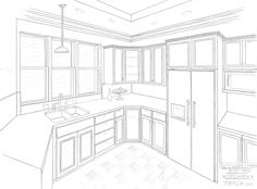 2 point perspective interior easy - Google Search