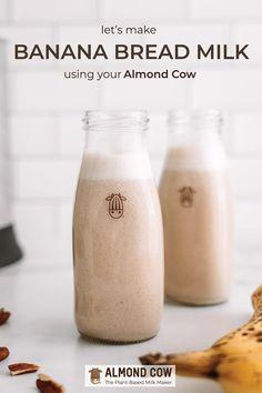 How to make Bread Milk in your Almond Cow! Nut Milk Recipe, Almond Milk Recipes, Homemade Almond Milk, Plant Based Milk, Plant Based Eating, Milk Plant, Vegan Milk, Cashew Milk, Cafe Rico