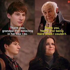 """Thank you, grandpa. For believing in her like I do"" - Henry, Regina and Henry Senior #OnceUponATime"