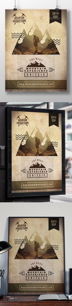 Buy Mountain Experience Flyer Template by BossTwinsMusic on GraphicRiver. - print dimension, with Bleed and Guides. - The image is not inclu. Vector Design, Flyer Design, Design Art, Print Design, Graphic Design, Sports Flyer, Event Flyers, Business Flyer Templates, Christmas Design