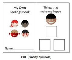 This is an interactive child-centered feelings book created with Smarty Symbols (used with permission via paid commercial license). The book focuses on three feelings and the child selects pictures of items or events that make him feel happy, sad, or mad. Feelings Book, Feelings And Emotions, Feelings Activities, Book Activities, Emotions Preschool, Speech Language Pathology, Speech And Language, Social Communication Disorder, Communication Boards