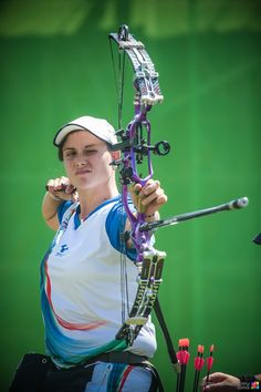 Sarti's switch: From wheelchair basketball to #archery. #paralympic #rio2016