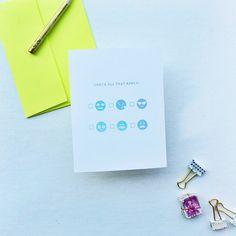 emoji mood card | Smitten on Paper