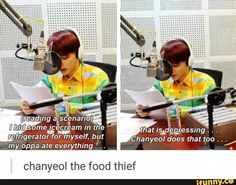 "this is so cute:P even if i dont hear him saying ""chanyeol does that too""i can hear how he said itXD"