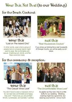Wedding dress code: 5 clever ways to tell guests what to wear | @offbeatbride