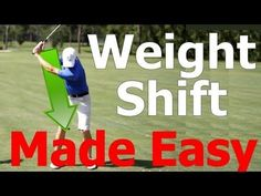 Golf Swing Lesson: Weight Shift (Transfer) Made Easy - YouTube