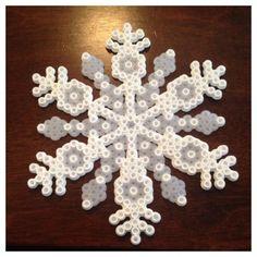 Perler beads snowflake