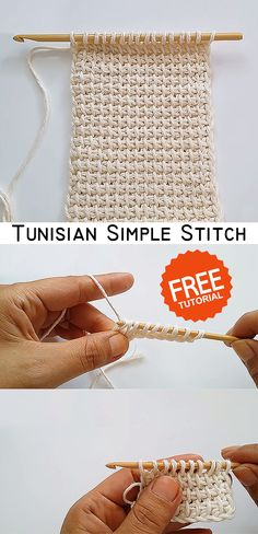 Learn how to crochet this beautiful Tunisian stitch. Tunisian Crochet, Learn To Crochet, Crochet Motif, Crochet Yarn, Free Crochet, Knitting Stitches, Knitting Patterns, Crochet World, Easy Crochet Patterns