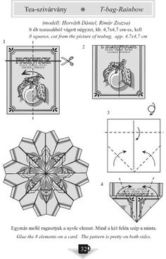 Simple Origami - Picture Gallery - Diagrams - Origami of the kitchen - From the kitchen - Tea rainbow description