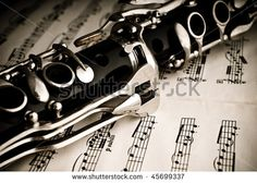 Part of a clarinet - stock photo