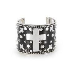 Shyanne® Women's Cross & Stud Cuff Bracelet