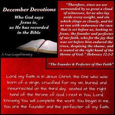 Jesus: The Founder and Perfecter of our Faith #atruegospelministry