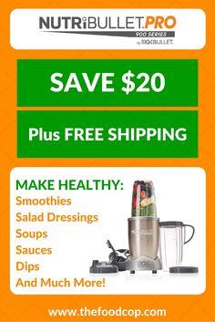 NutriBullet Pro: Save $20 + FREE SHIPPING http://www.thefoodcop.com/nutribullet/