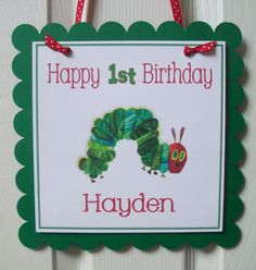 The Very Hungry Caterpillar Party Favor Tags- Bookplates also available. $4.75, via Etsy.