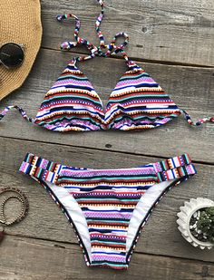 $19.99 Only with fast free shipping for your beach sunshine! This must be the rainbow you dreamed so long. It is so cute detailed with tie design&high leg cut! Heat this summer with Cupshe.com