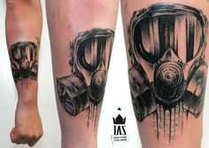 Gas mask Tattoo. Rodrigo tas                                                                                                                                                      Más