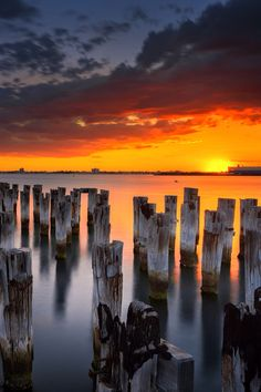 Pier sunset - Melbourne, Australia (by Ading Attamimi on 500px)