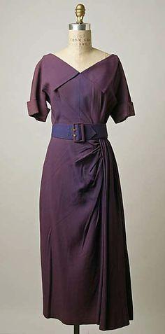 Dress  Robert Piguet  (French, born Switzerland, 1901–1953)  Date: 1949 Culture: French Medium: teca, rayon staple