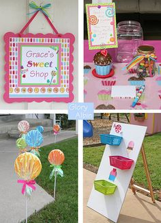 Kid's birthday party Ideas: Games for a candy shoppe birthday