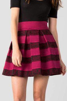 Ravenna Brocade Bandaged Skirt