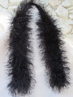 Black furry scarf/boa for an 18 doll by TinaDollDesigns on Etsy, $6.00