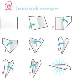 pliage avion en papier