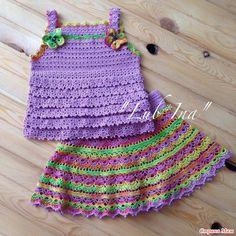 Crochet Toddler, Baby Girl Crochet, Newborn Crochet, Crochet For Kids, Crochet Summer Dresses, Crochet Yoke, Crochet T Shirts, Crochet Doll Clothes, Crochet Stitches Patterns