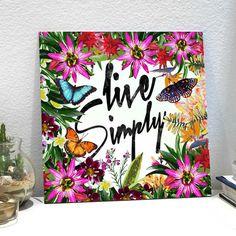 Placa decorativa - Live Simply - Decohouse