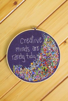 Hand Embroidery Hoop Art Creative Minds are by marvelousthingshop