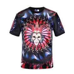 Brand Men T Shirt Gold Gothic 3D T Shirt Mens Clothing Sport Shirt Rock T-shirt Short