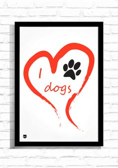 "Typografia ""I love Dogs""/ Typography ""I love Dogs"""
