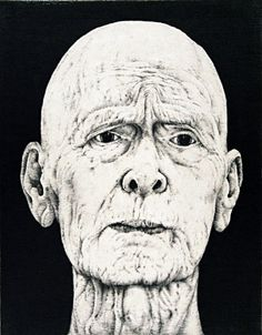 Arne Bendik Sjur. Rememberance of a Father's Face (black), 2004. Drypoint. Edition of 10. 4-1/2 x 3-1/2 inches.