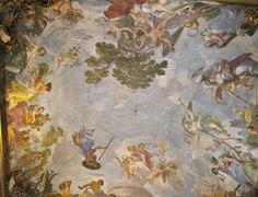 Inside the Pitti Palace, Florence Fresco, Caravaggio, Flower Of Life, Palazzo, Florence, Renaissance, Gallery, Ceiling, Painting