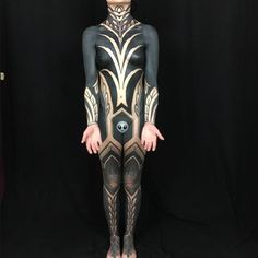 Image may contain: 1 person Weird Tattoos, Sexy Tattoos, Unique Tattoos, Beautiful Tattoos, Black Tattoos, Body Art Tattoos, Tribal Tattoos, Cool Tattoos, Awesome Tattoos