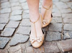 nude vintage shoes