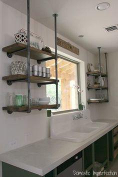 rustic-open-kitchen-shelving