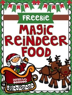 There are two magic reindeer food toppers to choose from in this file