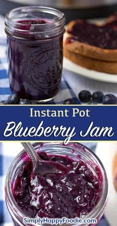 Instant Pot Blueberry Jam is easy to make and delicious! Make this pressure cook… Instant Pot Blueberry Jam is easy to make and delicious! Make this pressure cooker blueberry jam in minutes. Best Instant Pot Recipe, Instant Pot Dinner Recipes, Instant Pot Yogurt Recipe, Instant Pot Pressure Cooker, Pressure Cooker Recipes, Pressure Cooking, Instant Cooker, Jelly Recipes, Dessert Recipes