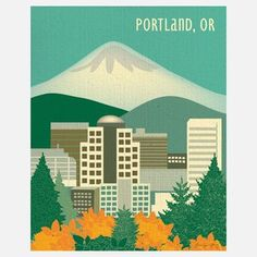 Portland Print from Karen Young, Owner and Artist, Loose Petals, $20, now featured on Fab.