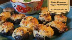 Bacon Parmesan Stuffed Mushrooms Shared on http://www.facebook.com/LowCarbZen
