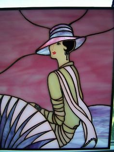 Glass Art | ... Lady - by Linda J. McGarvey from Glass Art Cold Art Gallery