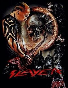 The King Hard Rock, Heavy Metal Art, Heavy Metal Bands, Black Metal, Woodstock, Reign In Blood, Kerry King, Jeff Hanneman, Extreme Metal