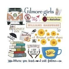 Gilmore Girls Tattoo, Gilmore Girls Quotes, Gilmore Girls Poster, Tante Tattoo, Gilmore Gilrs, Girls Tumbler, Lorelai Gilmore, Stars Hollow, Girl Clipart